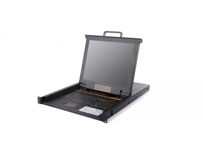 LCD KVM over IP Console with 8 port CAT5 KVM-17 - LC2708i