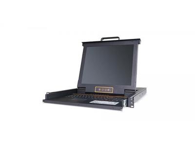 LCD KVM over IP Console with 16 port CAT5 KVM-17 - LC2716i