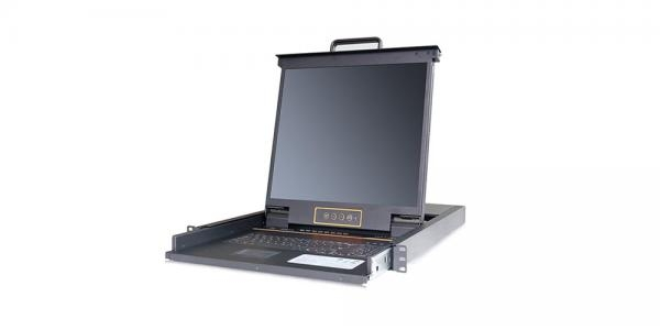 LCD KVM over IP Console with 8 port CAT5 KVM-19 - LC2908i