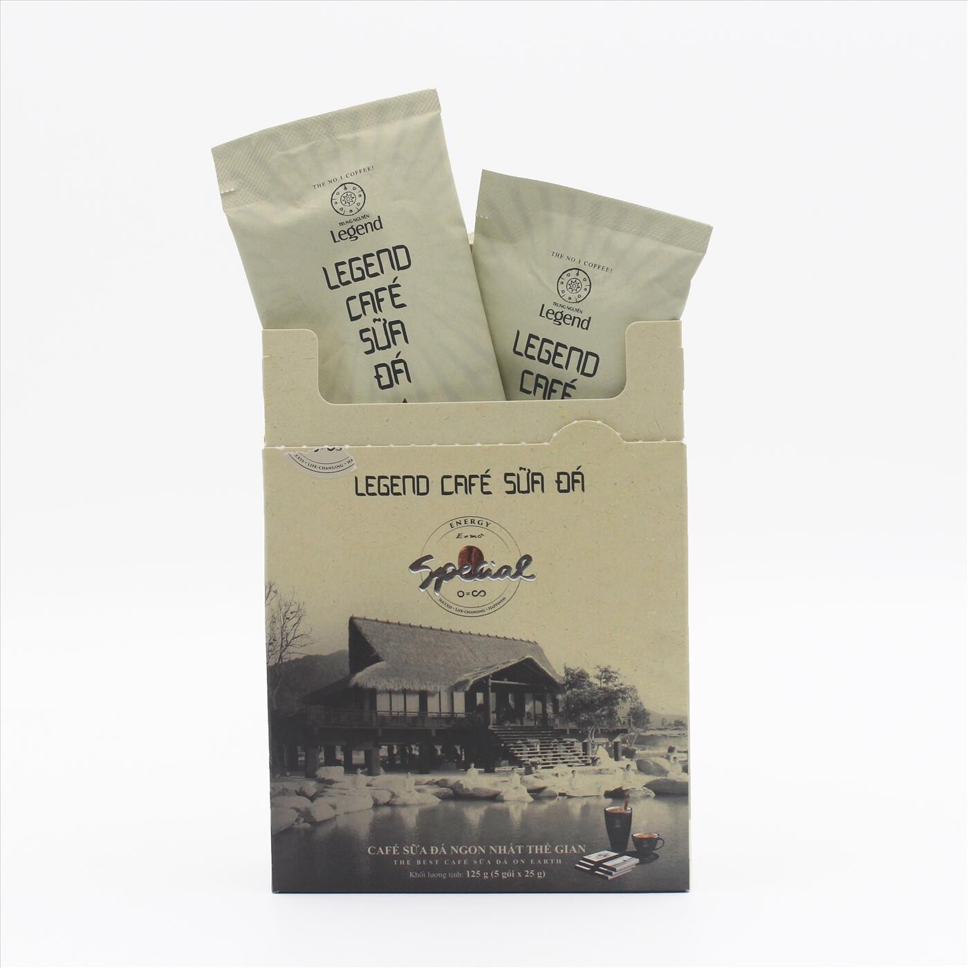 Cà phê hòa tan Trung Nguyên Legend sữa đá hộp 5 gói