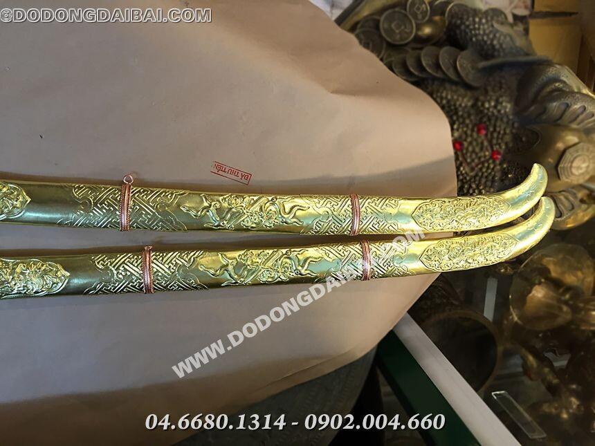 Kiếm đồng phong thủy chạm đồng nguyên chất 60cm