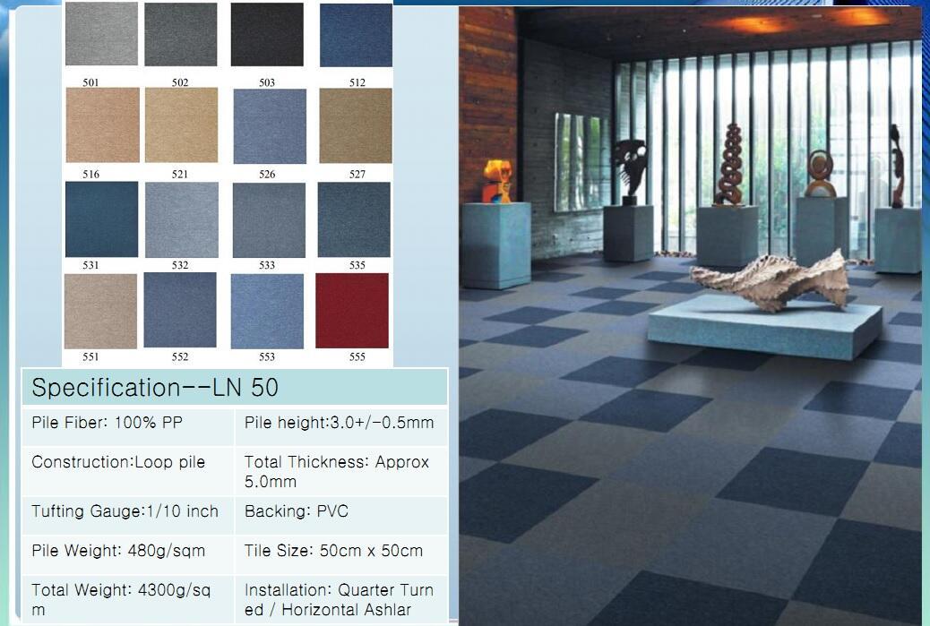 Thảm viên trải sàn LN 50 carpet