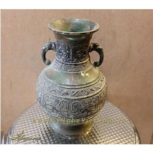 Lọ hoa giả cổ hoa văn thời Tần thủy hoàng cao 22cm