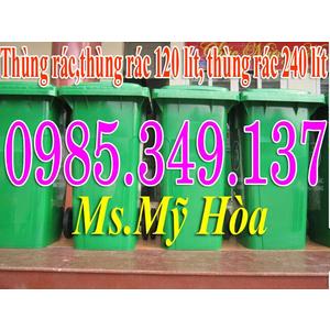 Lô mới Thùng rác 120 lít, thùng rác 240 lít, thùng rác 660 lít nhựa HDPE giá rẻ