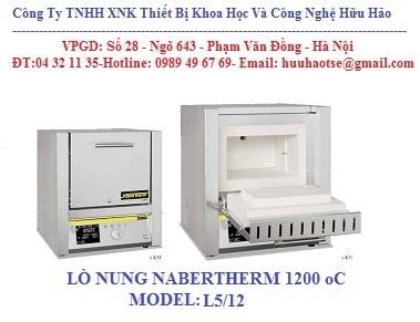 LÒ NUNG 1200 oC, MODEL L5/12/B410