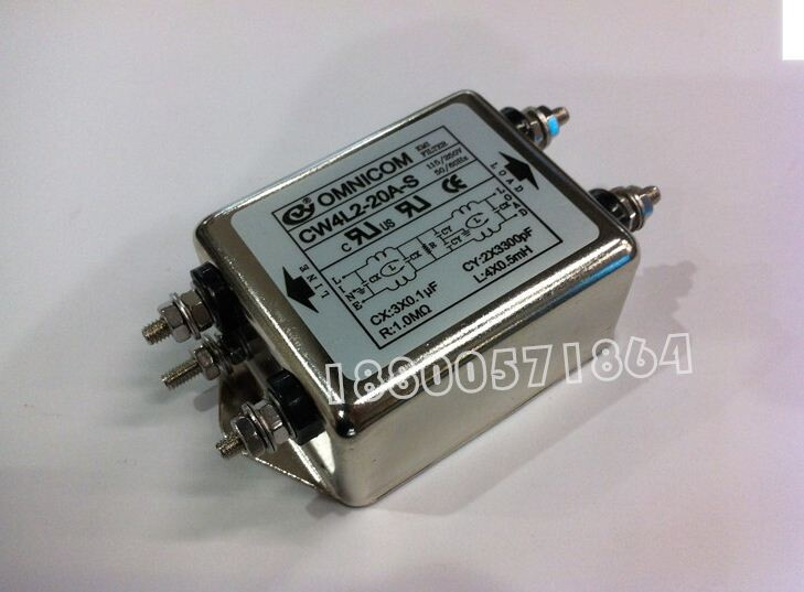 Bộ lọc nhiễu 1 pha 110 220V 30A