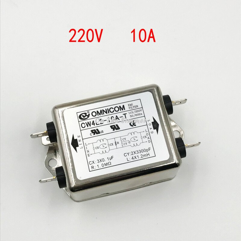 Bộ lọc nhiễu 1 pha 110 220V 10A loại to 2 bộ lọc