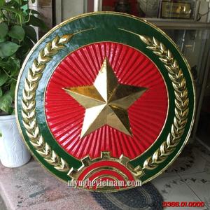 Logo quân đội hiệu đường kính 1m bằng đồng