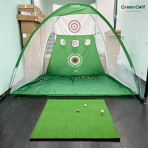 Combo Lồng Tập Golf 3M Có Lưới Chip + Thảm Swing 1.2M (2 Tee)/ Tặng 3 Bóng Golf Mới/ Bộ Tập Swing Golf Tại Nhà Giá Rẻ