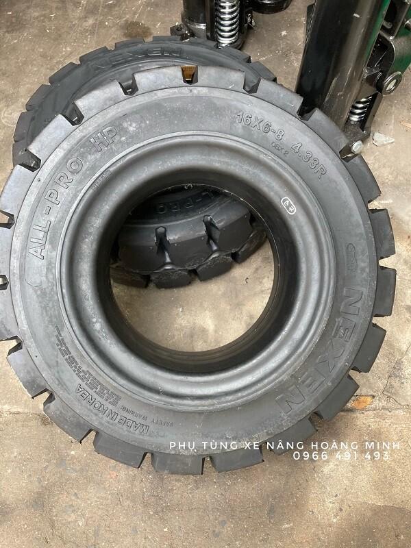Lốp cao su 16x6-8, Bánh xe nâng điện