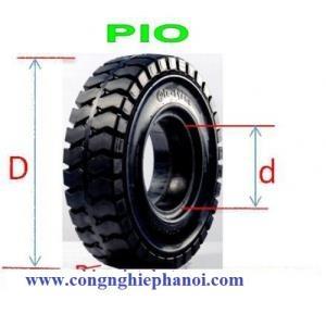 Lốp - vỏ đặc xe nâng 18x7-8 Pio