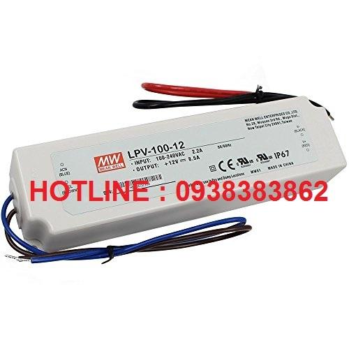 Bộ nguồn LED Meanwell LPV-100-5, LPV-100-12, LPV-100-24, LPV-100-36, LPV-100-48