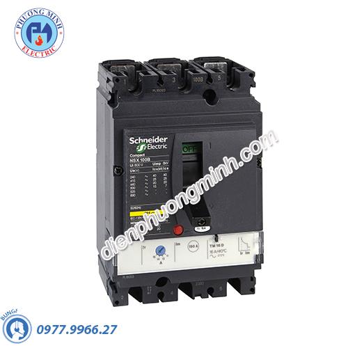 MCCB Compact NSX 100N 3P 16A 50kA 415V - Model LV429847