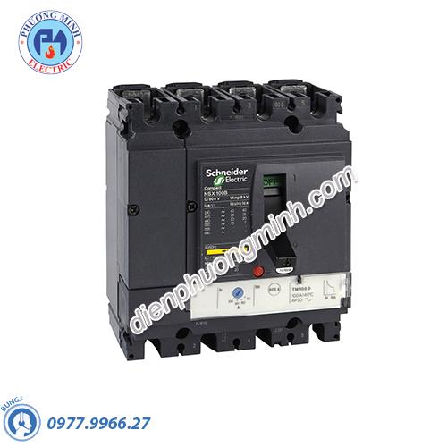 MCCB Compact NSX 100B 4P 63A 25kA 415V - Model LV429562