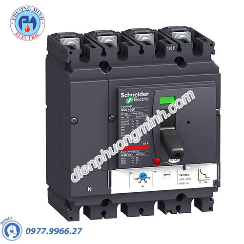 MCCB Compact NSX 100H 4P 100A 70kA 415V - Model LV429680