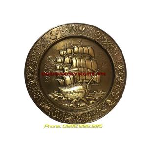 Mâm đồng phong thủy giả cổ - Thuận Buồm Xuôi Gió