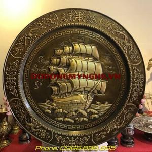 Mâm đồng phong thủy - Thuận Buồm Xuôi Gió