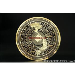 Mặt trống đồng ăn mòn đường kính 60cm trang trí nội thất