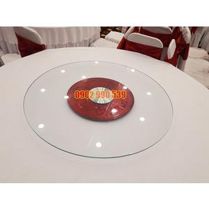 Mâm xoay bàn ăn sắt nhà hàng