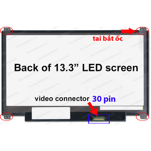 màn hình laptop 13.3 led slim 30 pin