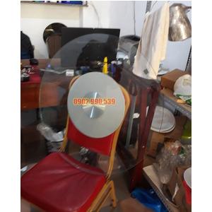 Mặt bàn kính xoay mâm sắt