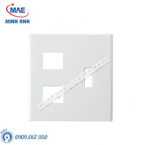 Mặt góc vuông dùng cho 1CB(Aptomat) và 3 thiết bị - Model FB7842H