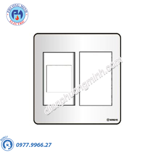 Mặt nhựa chứa 1 MCCB kiểu A và 3 module - Model SC3X/A