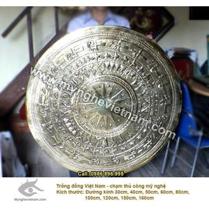 Mặt trống đồng gò bản đồ Việt Nam, trống đồng quà tặng và trang trí nhà