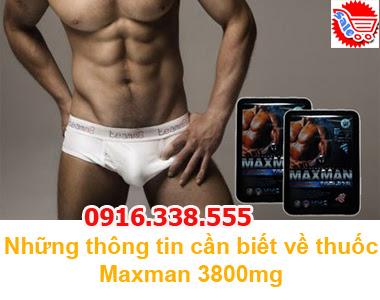 Thuốc MaxMan IV 3000mg Chính Hãng,Thuốc cường dương hiệu quả MaxMan IV 3000mg