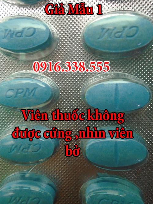 phân biệt thuốc maxman 3800 mg  hộp 10 viên hàng giả thật mẫu 1