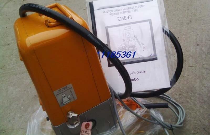 Máy bơm điện thủy lực R14E-F1 - Vòi thủy lực áp cao dài 2m, Dây nguồn điện và dây điều khiển remote dài 3m