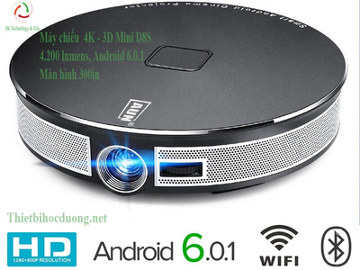 Máy chiếu Mini 4K Cao Cấp D8S