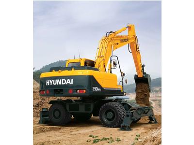 Máy đào Hyundai bánh lốp gầu 0.8 m3 R210W-9S