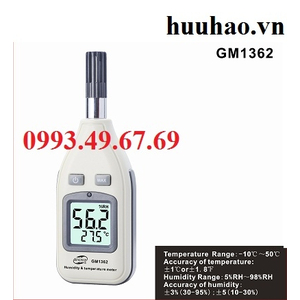 Máy đo nhiệt ẩm kế trong nhà yến GM 1362