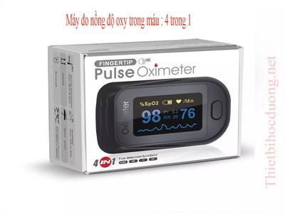 Máy đo nồng độ oxy trong máu, 4 chức năng và đo mạch, chỉ số tưới máu và tỷ lệ tần số hô hấp