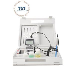 Máy đo pH/mV/Nhiệt độ cầm tay điện tử hiện số cáp điện nhựa cực dài 1 mét