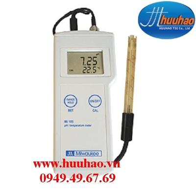 MÁY ĐO pH/NHIỆT ĐỘ CẦM TAY ĐIỆN TỬ HIỆN SỐ Model Mi 105