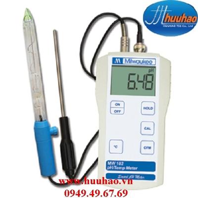 MÁY ĐO pH/NHIỆT ĐỘ CHUYÊN DÙNG ĐO THỰC PHẨM ĐIỆN TỬ HIỆN SỐ Model MW 102 food