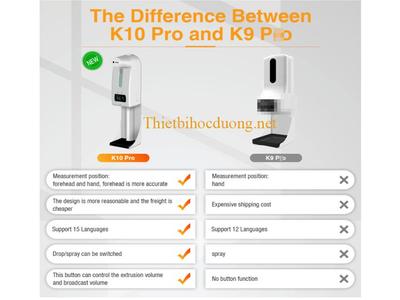 Máy đo thân nhiệt K10 Pro rửa tay khử khuẩn cho nhà thuốc