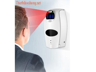 Máy đo thân nhiệt kèm xịt nước rửa tay khử khuẩn N006