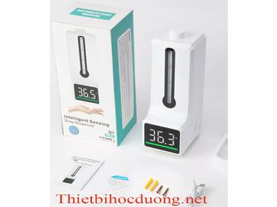 Máy đo thân nhiêt khử khuẩn tay treo tường Q7 Max