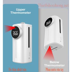 Máy đo thân nhiệt từ xa ở trán chính xác cao có phun nước rửa tay