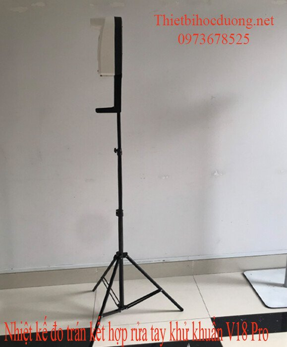 Máy đo thân nhiệt từ xa tự động sát khuẩn tay trong 2 giây V18 Pro