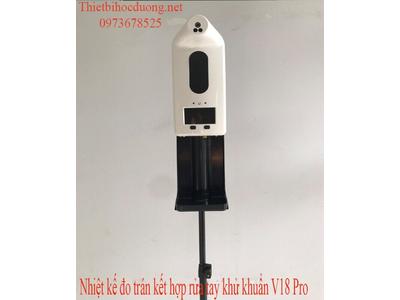 Kiểm tra thân nhiệt và khử khuẩn tay tự động không tiếp xúc V18 Pro
