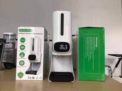Máy đo thân nhiệt, xịt nước rửa tay khử khuẩn (K9 Pro Plus )