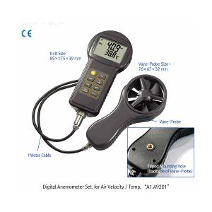 Máy đo tốc độ gió và nhiệt độ - scilab
