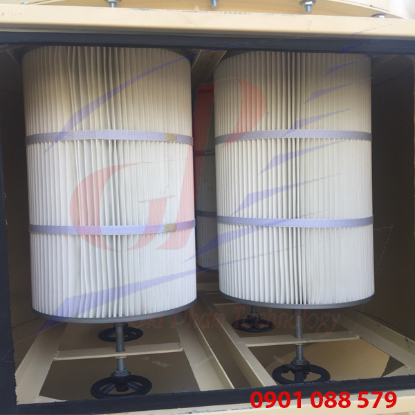 Hệ thống hút bụi công nghiệp dùng lọc cartridge D320*600mm