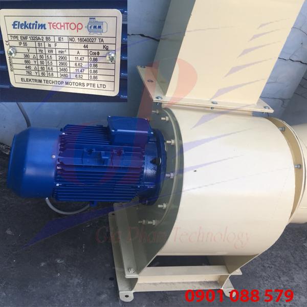 Hệ thống hút bụi công nghiệp dùng Motor 5,5 kw