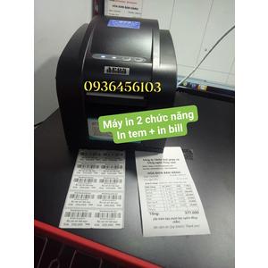 Máy in 2 chức năng: In tem mã vạch và In hóa đơn bán hàng