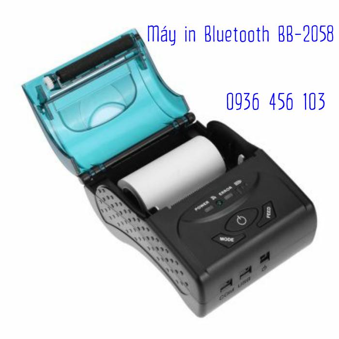Máy in hóa đơn Bluethooth in đơn hàng Nowfood trên điện thoại
